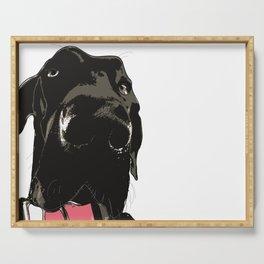 Great Dane Dog (black-pink collar) Serving Tray
