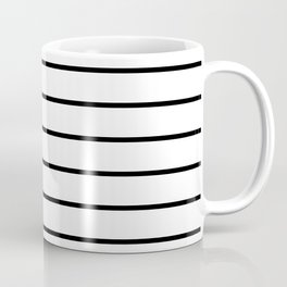 Black and White Stripes - Thin Black Wide White Coffee Mug