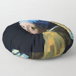 Jan Vermeer Girl With A Pearl Earring Baroque Art Floor Pillow