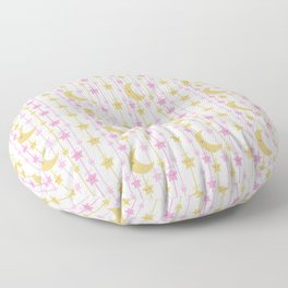 Pink Gold Moon Stars Girl Nursery Floor Pillow