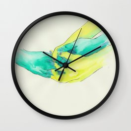 clasped hands Wall Clock