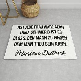 Marlene Dietrich quote Rug