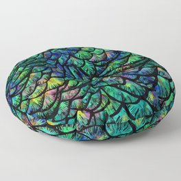 Preening Peacock Classic Floor Pillow