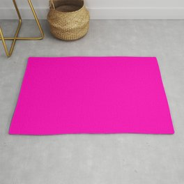The Future Is Bright Pink - Solid Color - Hot Pink Rug