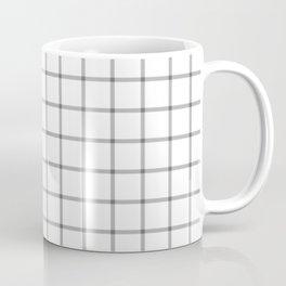 Bold white and black checked pattern Coffee Mug