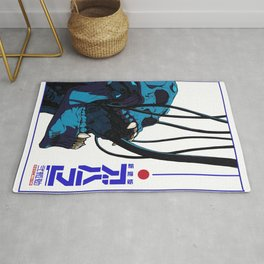 Skull Cyberpunk Vaporwave Aesthetic Urban Style Outfits Rug