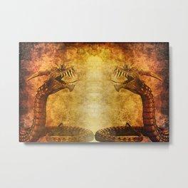 Mythical Dragon Metal Print
