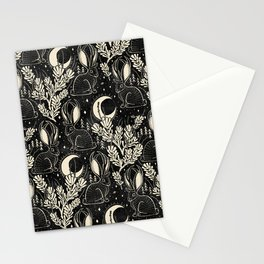 Jackalope - black and cream  Stationery Cards