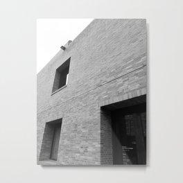 Minimal Building BW Metal Print
