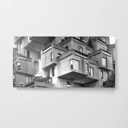 Habitat 67 01- Mid Century Architecture Metal Print