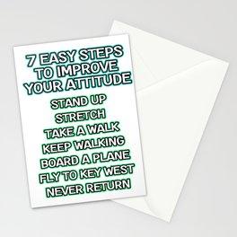 Motivational & Hilarious Improve Tshirt Design Improve your attitude Stationery Cards