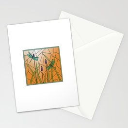 Dragonflies Stained Glass Stationery Cards
