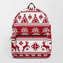 Christmas Holiday Nordic Pattern Cozy Backpack