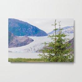 Mendenhall and Tree Metal Print