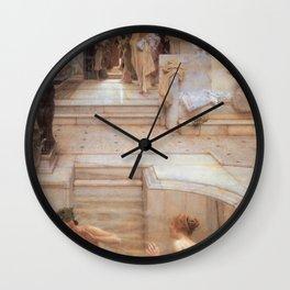 A Favourite Custom 1909 by Sir Lawrence Alma Tadema | Reproduction Wall Clock