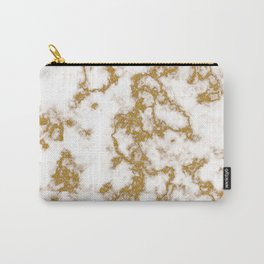 Luxury Gold Marble Carry-All Pouch