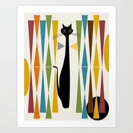 Mid-Century Modern Art Cat 2 Art Print