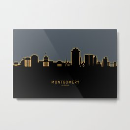 Montgomery Alabama Skyline Metal Print