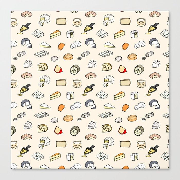 Cheese pattern Leinwanddruck