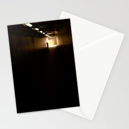 Old lady light at the end of the tunnel Stationery Cards