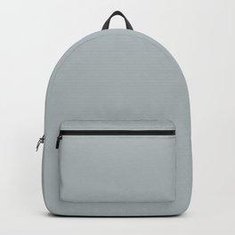 Light Pastel Slate Blue Gray Solid Color Parable to Valspar Autumn Fog 4007-1B Backpack