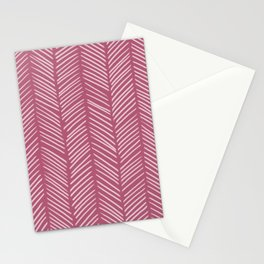 Lipstick Herringbone Stationery Cards