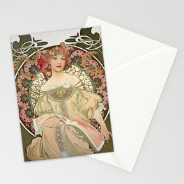 Alfons Mucha - Dreamy - Digital Remastered Edition Stationery Cards