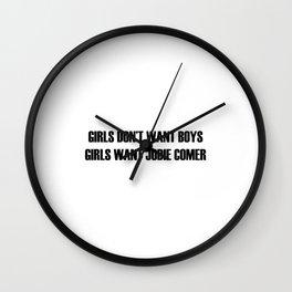 KILLING EVE - GIRLS WANT JODIE COMER Wall Clock