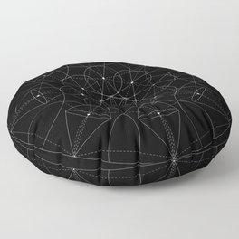 Portals - White on Black Version Floor Pillow