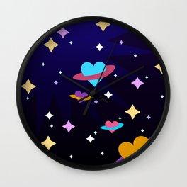Heart Planet Wall Clock