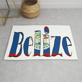 Belize Font with Belizean Flag Rug