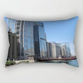River Architecture Rectangular Pillow