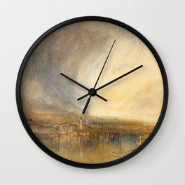 William Turner - Flüelen, from the Lake of Lucerne Wall Clock
