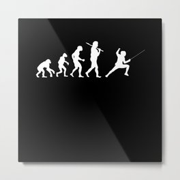Evolution Fencing Metal Print