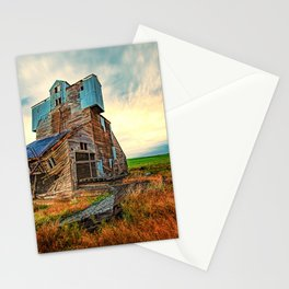 Weathered, An Abandoned Grain Elevator in the Palouse Stationery Cards