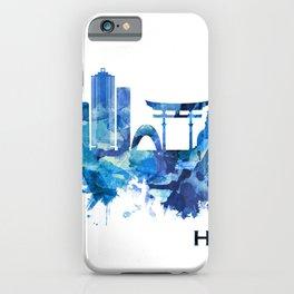 Hiroshima Japan Skyline Blue iPhone Case