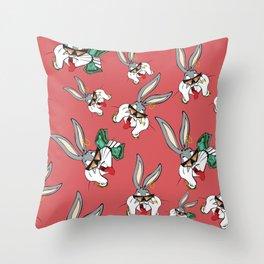 Bad Bunny BUGS! Throw Pillow