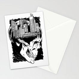 City Skull Stationery Cards