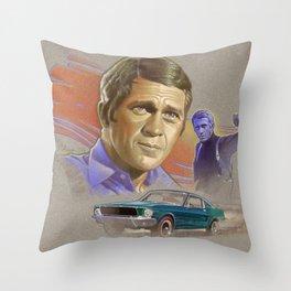 """Steve McQueen from """"Bullitt"""" (1968) Throw Pillow"""