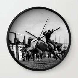 Rodeo Riders at the 1940 Calgary Stampede - Cow-boys de rodéo au Stampede de Calgary de 1940  Wall Clock