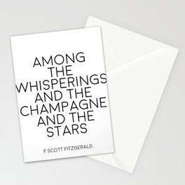 Party Decor Bar Decorations Typography Poster Champagne Print Quotes Wall Art F Scott Fitzgerald Stationery Cards