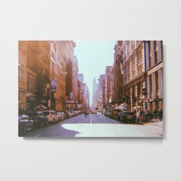 New York City // Retro 50 Metal Print
