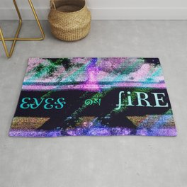 Eyes on Fire Rug