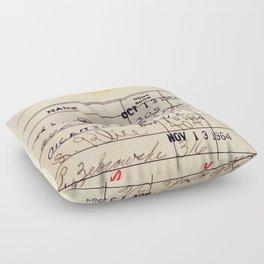 Library Card 23322 Floor Pillow