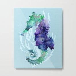 Mystical Seahorse Metal Print