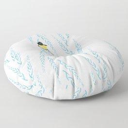 Cute New Zealand Tomtit Print Floor Pillow