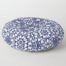 Navy Tile Floor Pillow