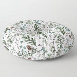 Pine and Eucalyptus Greenery Floor Pillow