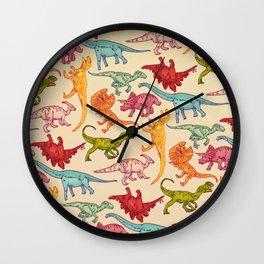 DINOS PATTERN Wall Clock