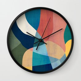 Waterfall and forest Wall Clock